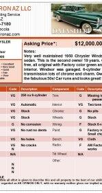 1950 Chrysler Windsor for sale 101133060