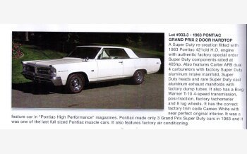 1963 Pontiac Grand Prix SE Sedan for sale 101190242