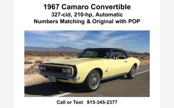 1967 Chevrolet Camaro Convertible for sale 101287308