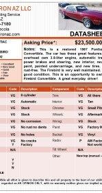 1967 Pontiac Firebird for sale 101203141