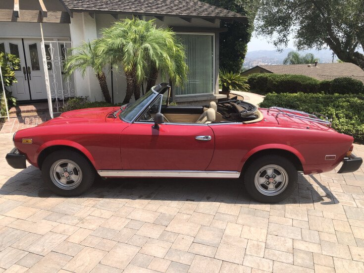 1980 Fiat 2000 Spider For Sale Near Fort Worth Texas 76107 Classics On Autotrader