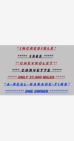 1985 Chevrolet Corvette Coupe for sale 101110112