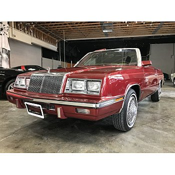 1985 Chrysler LeBaron Convertible for sale 101560700