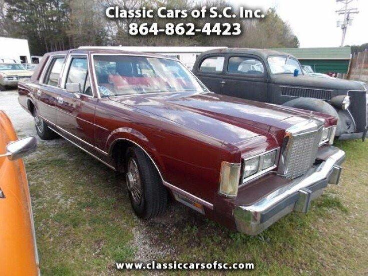 1985 Lincoln Town Car For Sale Near Gary Court South Carolina 29645