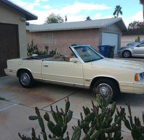 1986 Chrysler LeBaron Convertible for sale 101315801