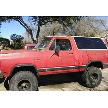 1986 Dodge Ramcharger 4WD for sale 100962604