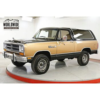 1986 Dodge Ramcharger 4WD for sale 101322061