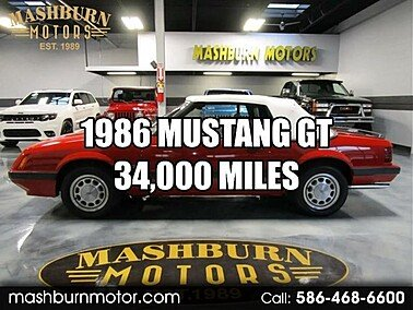 1986 Ford Mustang GT Convertible for sale 101491544