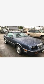 1987 Chrysler LeBaron Premium Convertible for sale 100947091