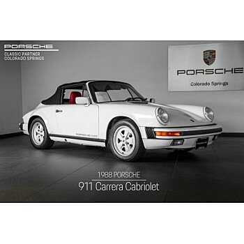1988 Porsche 911 Carrera Cabriolet for sale 101209575
