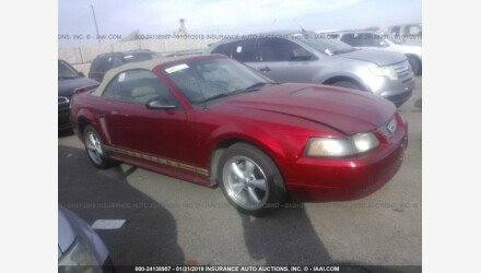 2001 Ford Mustang Convertible for sale 101124789