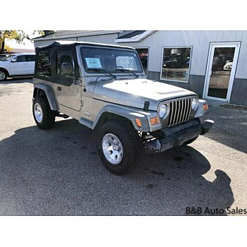 2003 Jeep Wrangler 4WD SE for sale 101124409