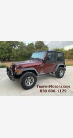 2004 Jeep Wrangler for sale 101194582