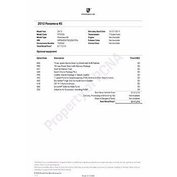 2012 Porsche Panamera for sale 101431603