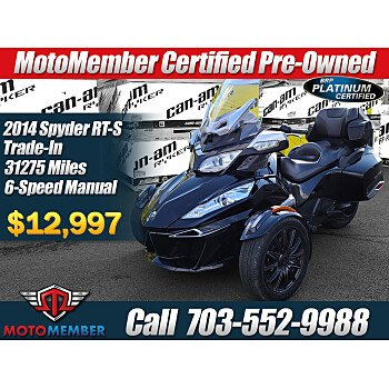 2014 Can-Am Spyder RT-S for sale 201032942