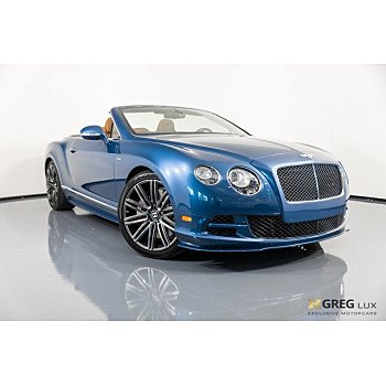 2015 Bentley Continental GTC Speed Convertible for sale 101063689
