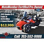 2015 Can-Am Spyder F3-S for sale 201012727