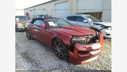 2015 Chevrolet Camaro LT Convertible for sale 101268935
