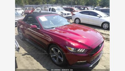2015 Ford Mustang Convertible for sale 101220924