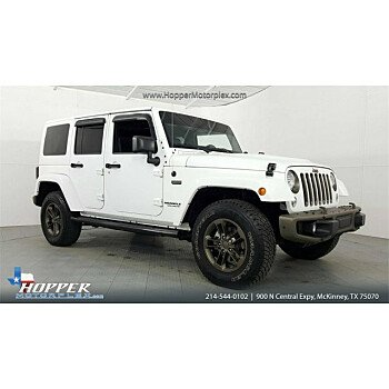 2016 Jeep Wrangler 4WD Unlimited Sahara for sale 101068524