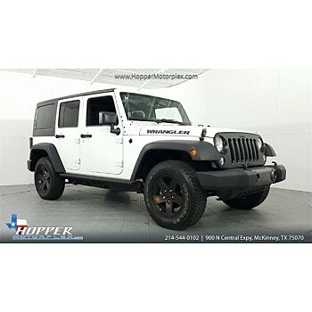 2016 Jeep Wrangler 4WD Unlimited Sport for sale 101106448