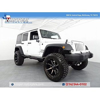 2016 Jeep Wrangler 4WD Unlimited Sport for sale 101183494