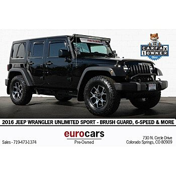 2016 Jeep Wrangler 4WD Unlimited Sport for sale 101216394