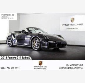 2016 Porsche 911 Cabriolet for sale 101328016