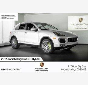 2016 Porsche Cayenne S E-Hybrid for sale 101212181