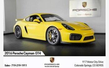 2016 Porsche Cayman GT4 for sale 101214308