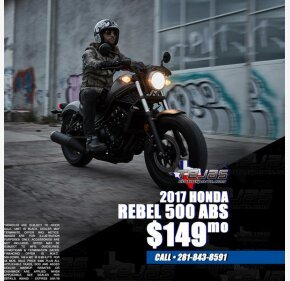 2017 Honda Rebel 500 ABS for sale 200694675
