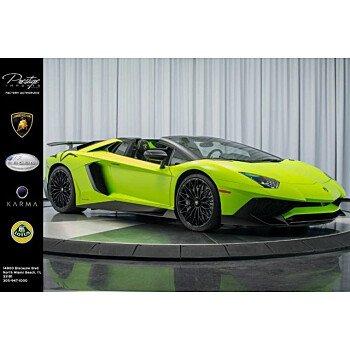2017 Lamborghini Aventador LP 750-4 Superveloce Roadster for sale 101147998