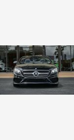 2017 Mercedes-Benz S550 Cabriolet for sale 101124485