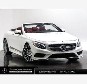 2017 Mercedes-Benz S550 Cabriolet for sale 101298628