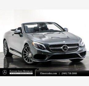2017 Mercedes-Benz S550 Cabriolet for sale 101301321