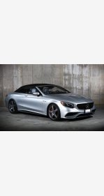 2017 Mercedes-Benz S63 AMG 4MATIC Cabriolet for sale 101238085