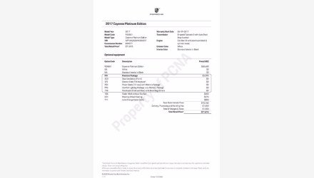 2017 Porsche Cayenne Platinum Edition for sale 101403462