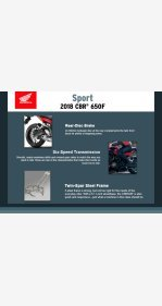 2018 Honda CBR650F for sale 200909077