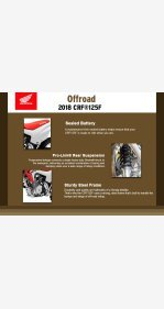 2018 Honda CRF125F for sale 200484225