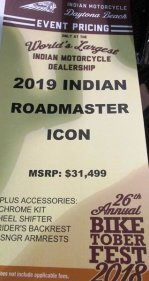 2019 Indian Roadmaster for sale 200636297