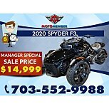 2020 Can-Am Spyder F3 for sale 201036171