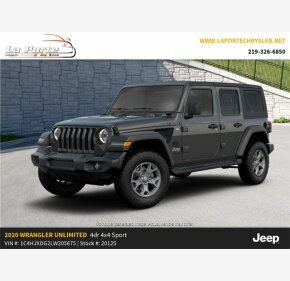 2020 Jeep Wrangler 4WD Unlimited Sport for sale 101256273