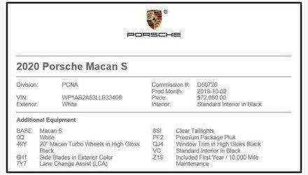 2020 Porsche Macan s for sale 101269217