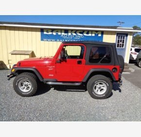 2001 Jeep Wrangler 4WD Sport for sale 101091572