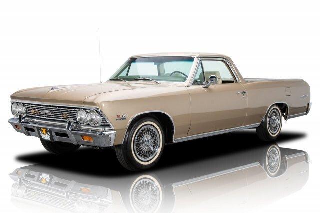 1966 /'66 CHEVY EL CAMINO MAROON DELUXE AUTOWORLD AW ROUND 2 DIECAST R2 2014