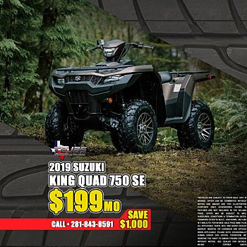 2019 Suzuki KingQuad 750 for sale 200673260